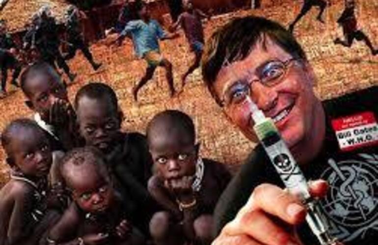 Imagen de Bill Gates, Genocida Mundial.